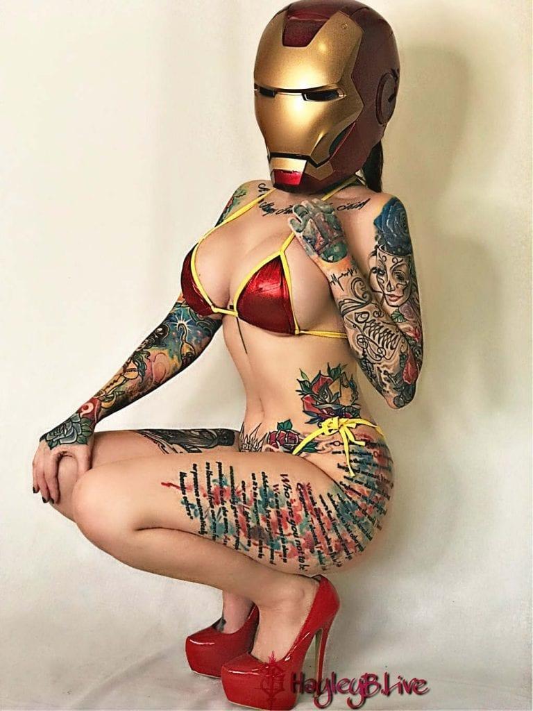 Hayley B nude cosplayer Iron Man